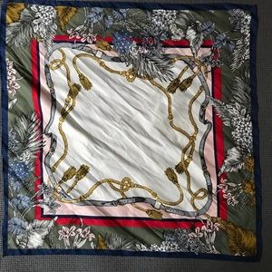 """Accessories - Used 21"""" x 21"""" scarf"""
